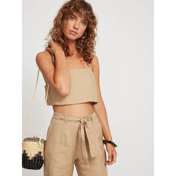 Faithfull the Brand Tops - Linen crop top